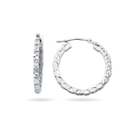 Royal Pave Hoop Earrings in 14K White Gold