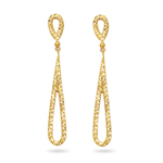 Royal Pave Drop Earrings in 14K Yellow Gold