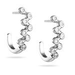 1/3 Cts Diamond Bubble Earrings in 14K White Gold