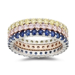 1.50 Ct Sapphire Eternity Band (Color of Your Choice)