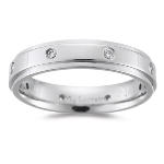 0.03-0.08 Cts SI2-I1 clarity & I-J color Diamond accented Wedding Band in Platinum