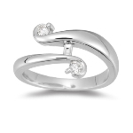 0.15-0.20 Cts  SI2 - I1 clarity and I-J color Diamond Right Hand Ring in 14K White Gold