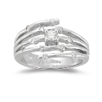 0.25-0.30 Cts  SI2 - I1 clarity and I-J color  Diamond Prong-set Right Hand Ring in 14K White Gold