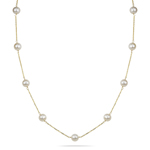 Fresh Water Pearls By The Yard Necklace in 14K Yellow Gold