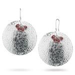 6.50 Cts Garnet Earrings in Sterling Silver