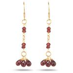 5.15 Cts Garnet Earrings in 18K Yellow Gold