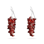 Garnet Earrings in Silver - Hand Made