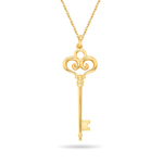 Sceptre Gold Key Pendant in 14K Yellow Gold