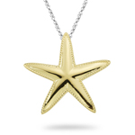 Star Fish Pendant in 18K Yellow Gold