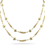 Gold Platted Double Strand Silver Necklace 36 inches - Christmas Sale