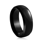 8 mm Black Tungsten Wedding Band