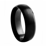 8 mm Domed Tungsten Wedding Band