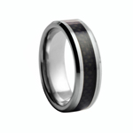 8 mm Carbon Fiber Tungsten Wedding Ring