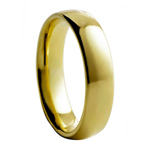 6 mm Gold Plated Polished Tungsten Wedding Band