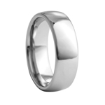 8 mm Classic Dome Tungsten Wedding Band