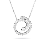 0.20-0.25 Cts  SI2 - I1 clarity and I-J color Diamond Journey Circle Pendant in 14K White Gold