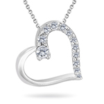 Journey Collection - 1/4 Ct Diamond Heart Pendant in 14K Gold