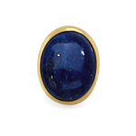 Lapis Tie Tack in 14K Yellow Gold