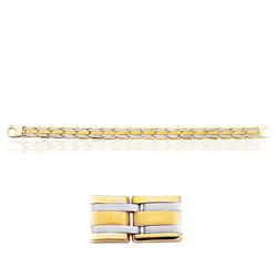 Men's Fancy Link in 14K Two Tone Gold ( 22.50 Grams)