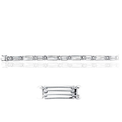 Men's Fancy Link in 14K White Gold (20.30 Grams)