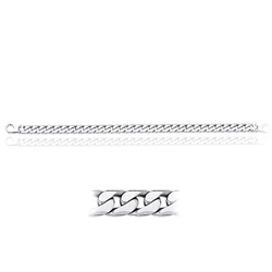 Men's Link in 14K White Gold  (28.10 Grams)