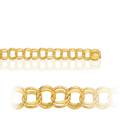 Double Link  in 14K Yellow Gold
