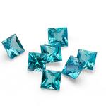 0.63 Cts of Blue Diamond  ( Princess - SI )
