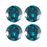 0.60 Cts of Blue Diamond  ( Round - VS )
