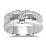Gents Ring - 1/3 Ct Men's Princess-Cut Diamond Ring