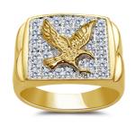 Eagle Ring - 1/10 Ct Diamond Men's Eagle Ring