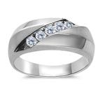 Men's Ring - 1/3 Ct Diamond Channel Set Ring