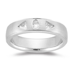 Mens Wedding Band - 1/2 Ct Diamond Wedding Band