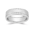 Mens Wedding Band - 1.46-1.55 Ct Diamond Eternity Band