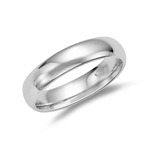 6 mm Comfort-Fit Wedding Band in Sterling Silver