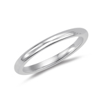 1.5-2.0 mm Classic Comfort-Fit Wedding Band in Platinum
