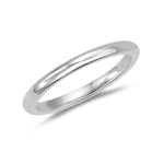 Wedding Band - 18K White Gold 2.5 mm Comfort-Fit Wedding Band