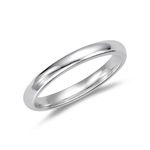 Wedding Band - 2.47-3.01 Grams 18K White Gold 3 mm Comfort-Fit Wedding Band