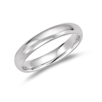Wedding Band - 18K White Gold 4 mm Comfort-Fit Wedding Band