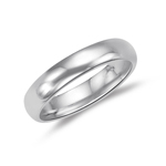 Wedding Band - 18K White Gold 5 mm Comfort-Fit Wedding Band