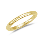Wedding Band - 18K Yellow Gold 2.5 mm Comfort-Fit Wedding Band
