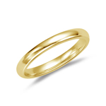 Wedding Band - 18K Yellow Gold 3 mm Comfort-Fit Wedding Band