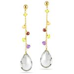 10.66 Cts Multi Gemstone Bead Drop Earrings in 14K Yellow Gold