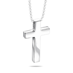 Plain Cross Pendant in  Silver