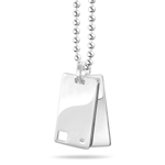 Gifts for Him - 0.01-0.02 Cts  SI2 - I1 clarity and I-J color Diamond Double Tag Men Pendant in Silver