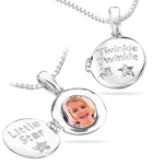 Childrens Jewelry - Musical Box Diamond Twinkle Locket Pendant in  Silver
