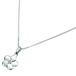 Childrens Jewelry - Diamond Flower Pendant in Silver