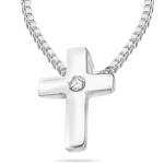 Childrens Jewelry - 0.01 Ct SI2 - I1 clarity and I-J color Diamond Cross Pendant