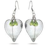 3.00 Cts Peridot Earrings in Sterling Silver