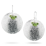 3.00-4.50 Cts Peridot Earrings in Sterling Silver