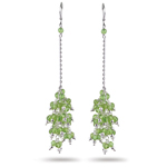 15.00 Cts Peridot Earrings in Sterling Silver